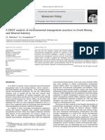 A SWOT analysi sofenvironmentalmanagementpracticesinGreekMining