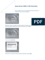 Instalacion Windows Server 2008 in VM Virtual Box