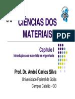 Capítulo I - Introduç¦o aos materiais na engenharia