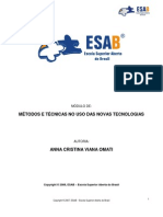 ESAB - MÉTODOS E TÉCNICAS NO USO DAS NOVAS TECNOLOGIAS (2)