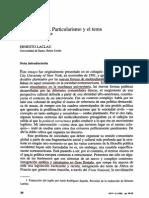"""LACLAU, ERNESTO (1996). """"Universalismo, particularismo y la cuestión de la identidad"""""""
