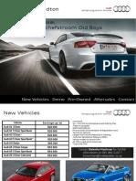 Audi Centre Sandton OBS Specials