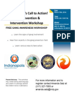 Gang Prevention and Intervention Training 2014