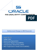 Oracle R12 Legal Entity concepts