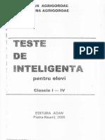 Teste de inteligență pentru elevi clasele I - IV (1)