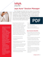 Avaya Aura Session Manager - Fact Sheet