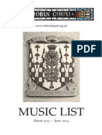 Music List March-June 2014