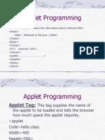 Applet Programming 1