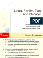 Intonation,Rhythm and Stress PDF