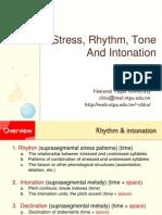 Intonation,Rhythm and Stress PDF