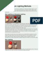 Basic Lighting Methods