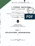 Censo de Argentina de 1914. Tomo 5.