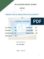 Production Operation Management
