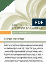 05 - Noções qualitativas de resistência dos materiais