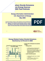 U.S. Carbon Dioxide Emissions From Energy Sources 2008 Flash Estimate