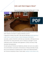 What Are Sinkholes and What Triggers Them
