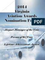 2014 Virginia Aviation Nomination Pkg