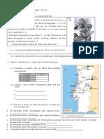 História e Geografia de Portugal ficha 6º ano