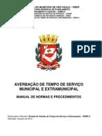 Modelo de Manual - Município de São Paulo