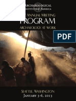 AIA Program 2013 Web American Archaeology