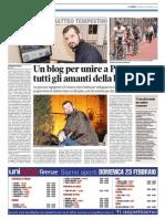 23_04_2014 - Articolo sulTirreno di Prato
