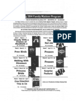 Family Matinee Program