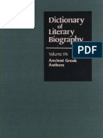 BRIGGS, W. W (Ed. 1997), Dictionary of Ancient Greek Authors