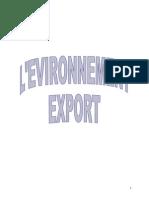 L'Environnement Export