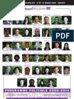 Programme 2008 2014 Massy Plus Juste