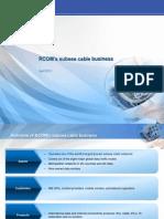 RCOM's subsea cable business (April 2012)