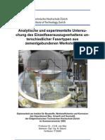 Analytische und experimentelle Untersuchung des Einzelfaserauszugverhaltend unterschiedlicher Fasertypen aus zementgebundenen Werkstoffen