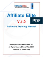 Affiliate Elite v.1.0 Software Training Manual
