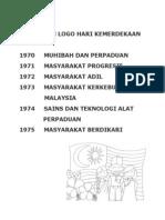 Tema Dan Logo Hari Kemerdekaan