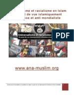 Universalisme Et Racialisme en Islam