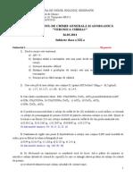 Subiecte XII 2011 v Chiriac