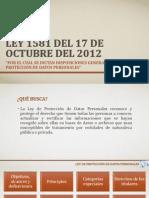 Ley 1581 Del 17 de Octubre Del 2012