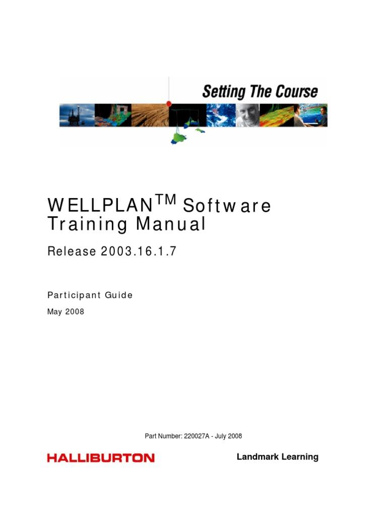 wellplan мануал