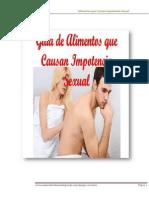 Alimentos Que Causan Impotencia Sexual