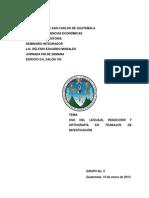 Uso Del Lenguaje, Redaccion y Ortografia en Los Trabajos de Investigacion