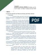 A revisão das decisões dos Tribunais de Contas pelo Poder Judiciário - Carlos Roberto Galvão Barros - FAVORÁVEL À LIMITAÇÃO DA DECISÃO - POSIÇÃO INTERESSANTE