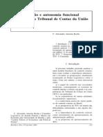 Especialização e autonomia funcional no âmbito do Tribunal de Contas da União - C. Alexandre Amorim Rocha