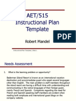 instructional plan template robert mandel final