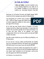 Real Madrid Club de Fútbol lectura comprensiva