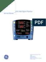 GEHC Service Manual CARESCAPE MV100 Vital Signs Monitor 2011