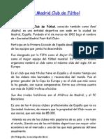 Lectura Comprensiva El Real Madrid