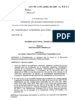 Ley Nº 4021 Régimen Electoral Transitorio