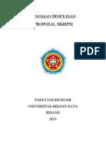 Pedoman Penulisan Proposal Skripsi