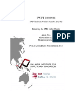SWIFT Institute Working Paper No. 2012 002 Financing the SME Value Chains Ata Shukla and Singh v61