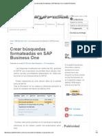 Crear búsquedas formateadas en SAP Business One _ Quality Info Solutions