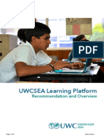 Learning Platform Overview - UWCSEA